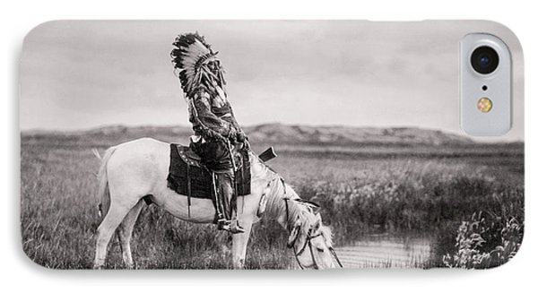 Horse iPhone 8 Case - Oglala Indian Man Circa 1905 by Aged Pixel