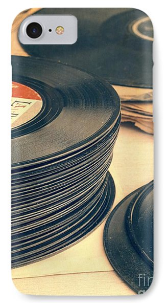 Music iPhone 8 Case - Old 45s by Edward Fielding