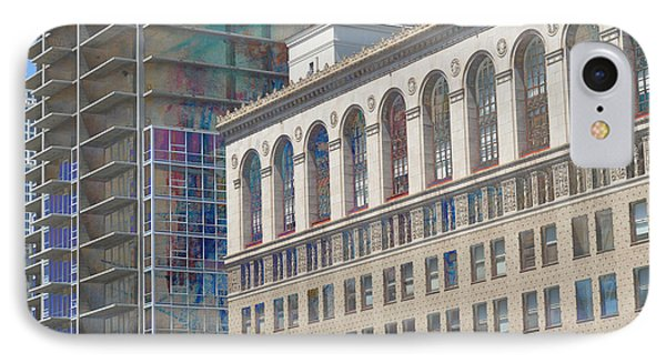 Old And New Building Panorama IPhone Case