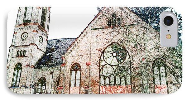Old Church In Fresco IPhone Case