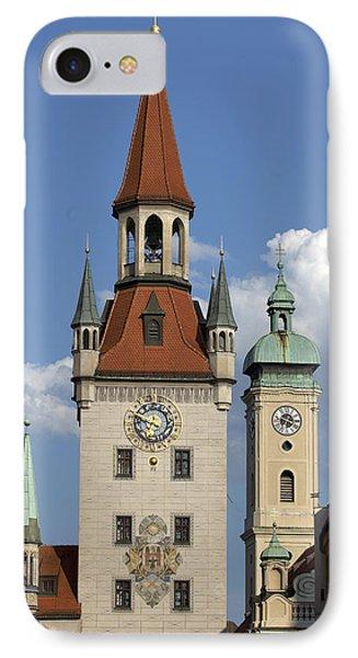 Old City Hall, Marienplatz, Munich IPhone Case