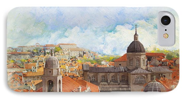 Castle iPhone 8 Case - Old City Of Dubrovnik by Catf