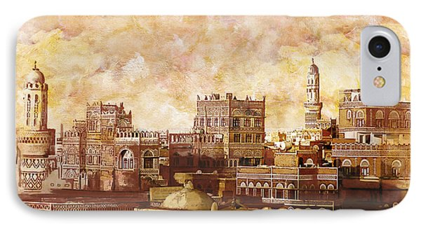 Castle iPhone 8 Case - Old City Of Sanaa by Catf