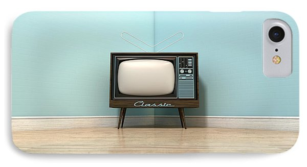 Old Classic Television In A Room IPhone Case