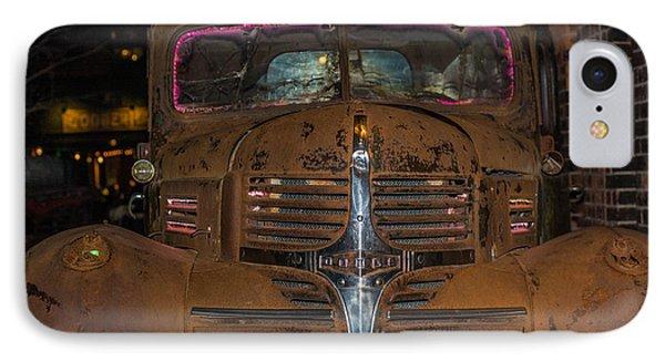 Old Dodge Truck In  Neon IPhone Case