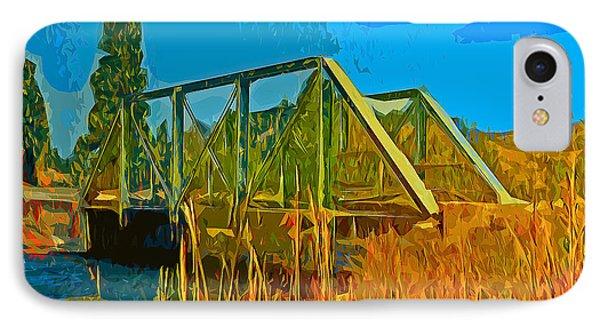 Old Firehole Bridge IPhone Case