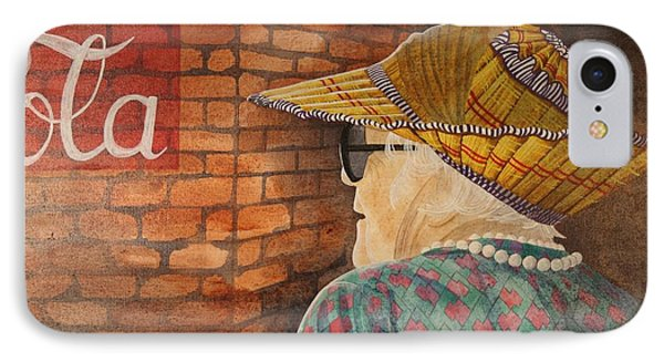 Old Lady With Hat IPhone Case