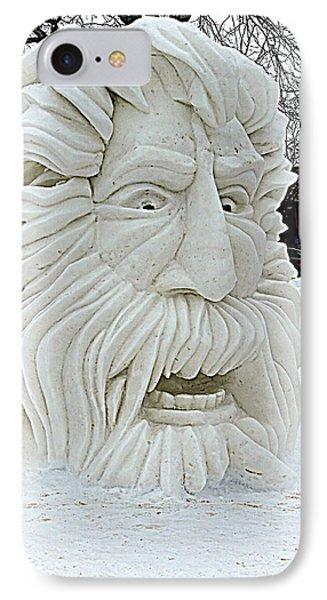 Old Man Winter Snow Sculpture IPhone Case