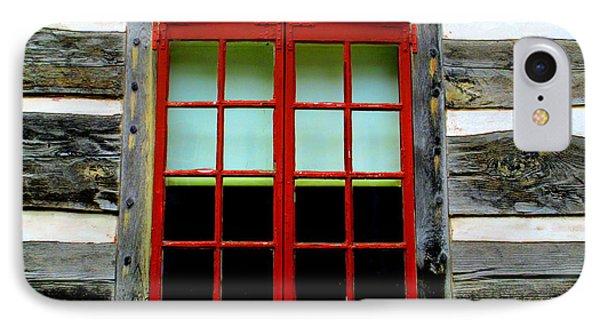 Old Salem Window Fourteen IPhone Case