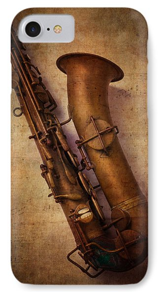Saxophone iPhone 8 Case - Old Sax by Garry Gay