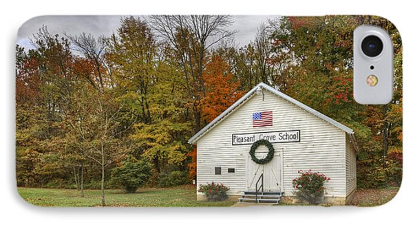 Old School House At Panther Creek IPhone Case