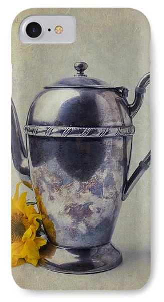 Sunflower iPhone 8 Case - Old Teapot With Sunflower by Garry Gay
