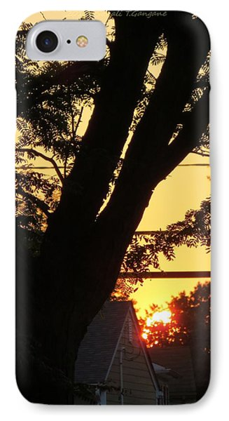 Old Tree And Sunset IPhone Case