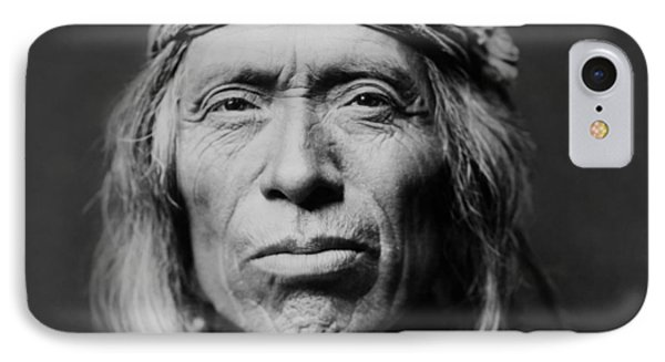 Portraits iPhone 8 Case - Old Zuni Man Circa 1903 by Aged Pixel