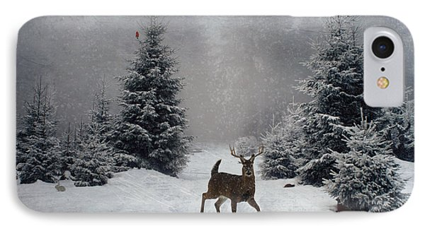 On A Snowy Evening IPhone Case