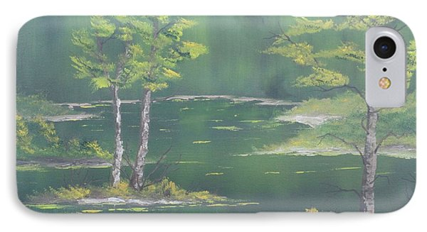 On Emerald Pond IPhone Case