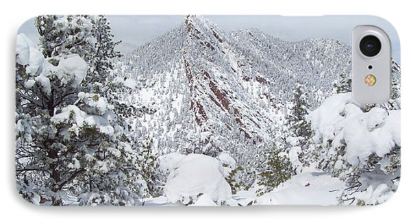 On Top Of Bear Peak Snow Mountain  IPhone Case