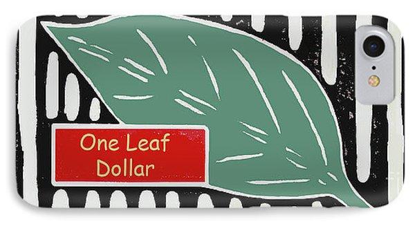 One Leaf Dollar IPhone Case