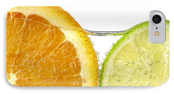 Orange And Lime Slices In Water IPhone Case