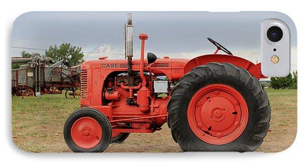 Orange Case Tractor IPhone Case