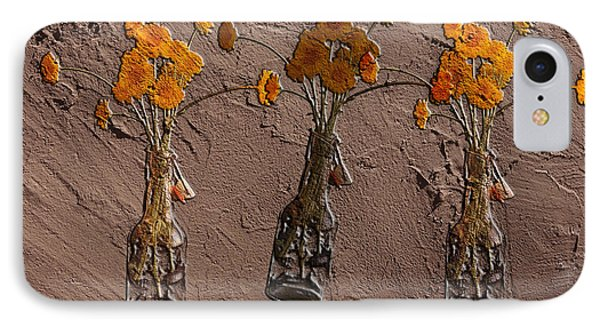 Orange Flowers Embedded In Adobe IPhone Case