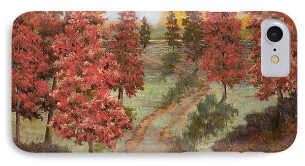 Orange Pines IPhone Case