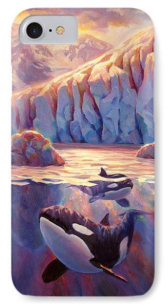 Orca Sunrise At The Glacier IPhone Case