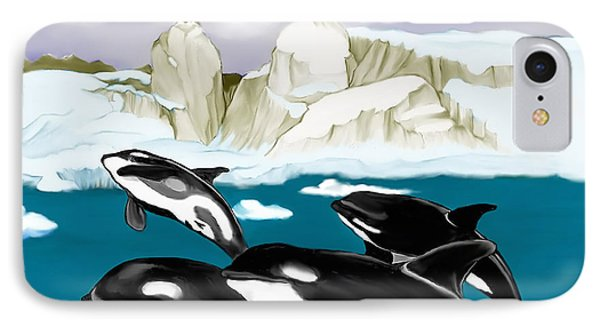 Orcas IPhone Case