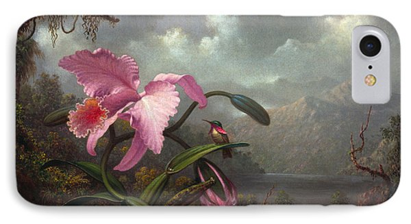 Orchid And Hummingbir IPhone Case