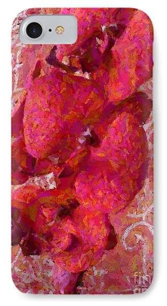Orchid On Fabric IPhone Case