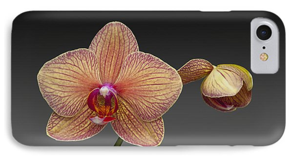 orchid open and closed flower Phalaenopsis IPhone Case