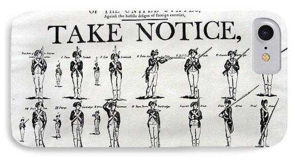 Order Of Battle - Take Notice Brave Men IPhone Case
