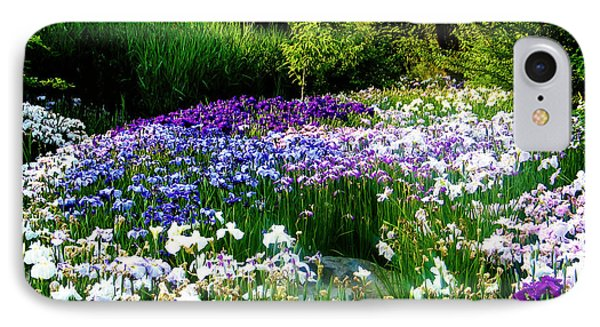 Oriental Ensata Iris Garden IPhone Case