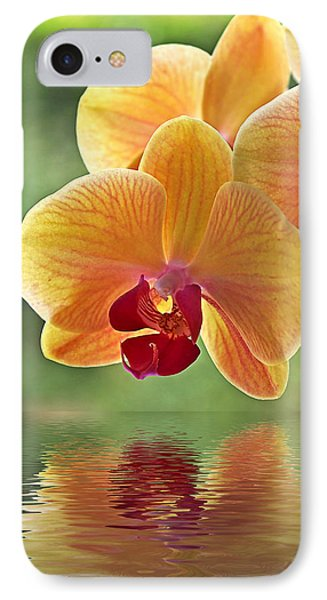 Orchid iPhone 8 Case - Oriental Spa - Square by Gill Billington
