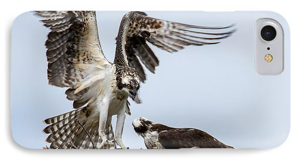 Osprey Coming In For  A Landing IPhone Case