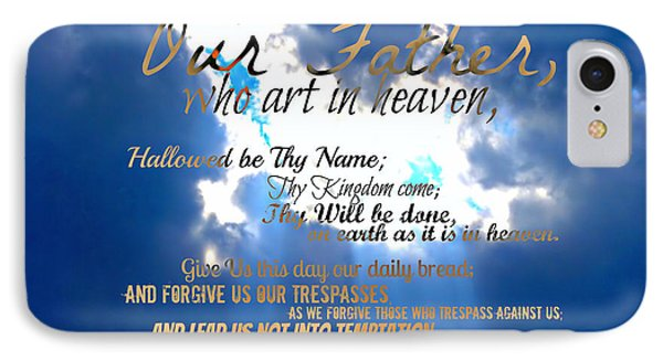 Our Lords Prayer IPhone Case
