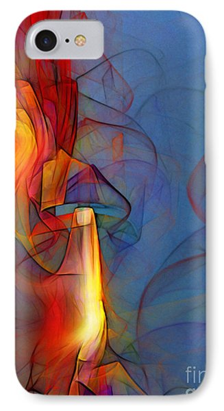 Out Of The Blue-abstract Art IPhone Case