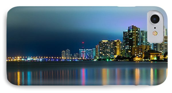 Overcast Miami Night Skyline IPhone Case