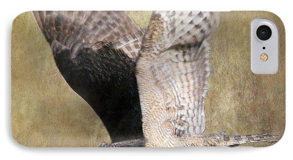 Owl In Flight IPhone Case