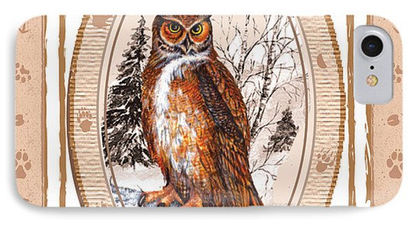 Owl Tracking His Prey IPhone Case