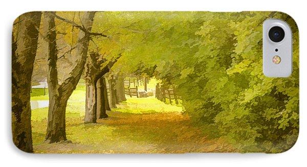 Painterly Pathway IPhone Case