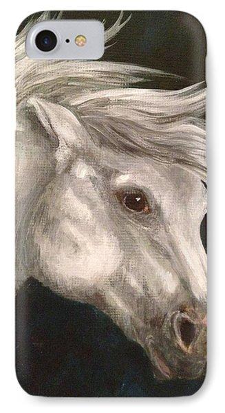 Pale Grey Horse IPhone Case
