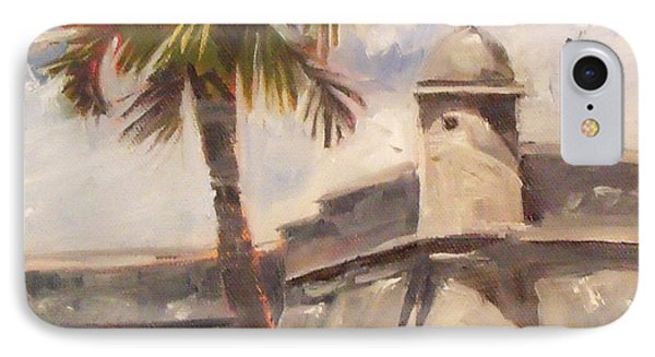Palm At St. Augustine Castillo Fort IPhone Case