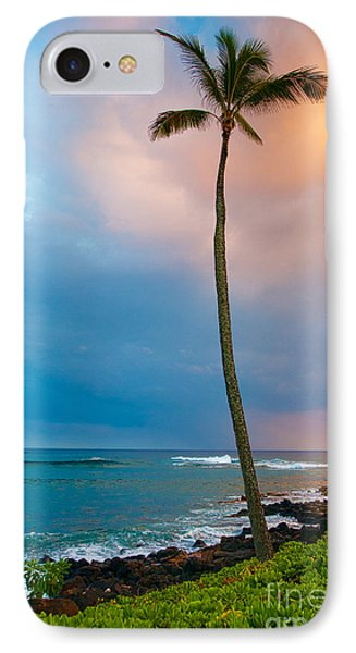 Palm Tree At Sunset. IPhone Case