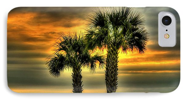 Palm Tree Sunrise IPhone Case