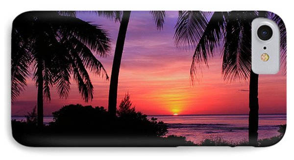 Palm Tree Sunset In Paradise IPhone Case