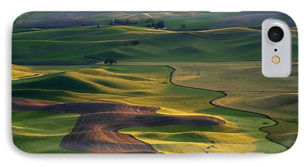 Rural Scenes iPhone 8 Case - Palouse Shadows by Mike  Dawson
