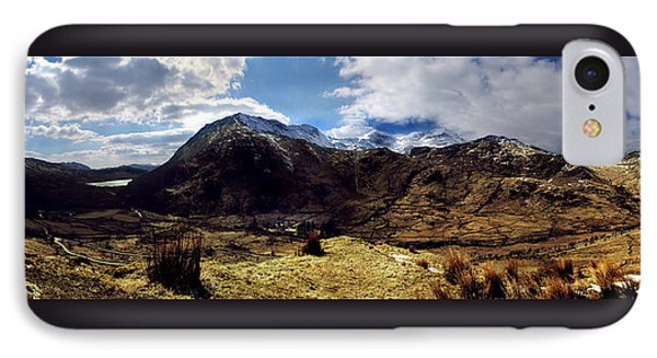 Panaramic Snowdonia Mountains IPhone Case
