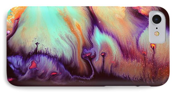 Panoramic Colorful Abstract Vibrant World By Kredart IPhone Case