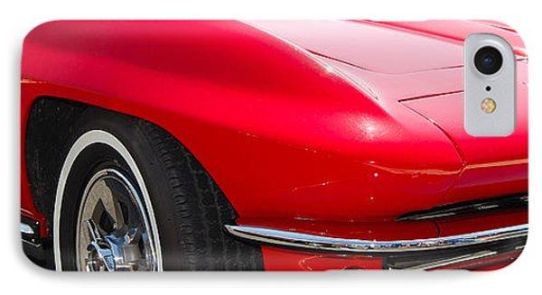 panoramic red Corvette IPhone Case